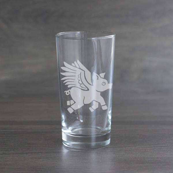 Flying Pig highball glasses
