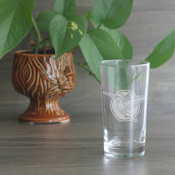 Hummingbird highball glass by Bread and Badger