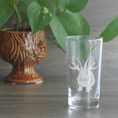 Jackalope highball glass