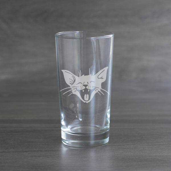 Laughing Cat highball glass