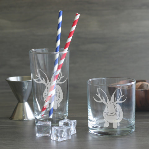 Jackalope cocktail glasses