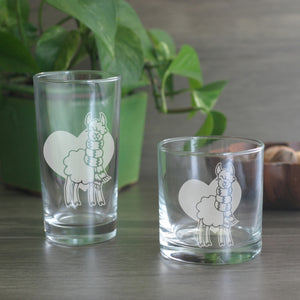 Llama cocktail glasses
