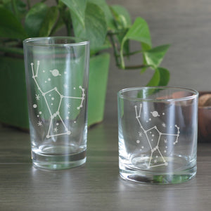 Orion constellation cocktail glasses