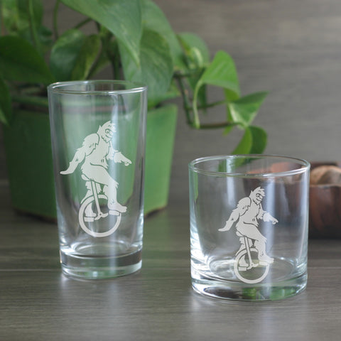 Sasquatch cocktail glasses
