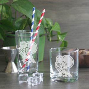 Snowy Owl cocktail glasses