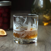 Bald Eagle Cocktail Glass - dishwasher-safe etched glassware