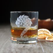 Pangolin Cocktail Glass - dishwasher-safe etched glassware
