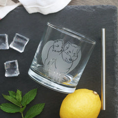 Shiba Inu Dog Cocktail Glass (Retired)