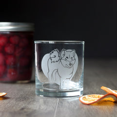 Shiba Inu Dog Cocktail Glass - dishwasher-safe etched glassware