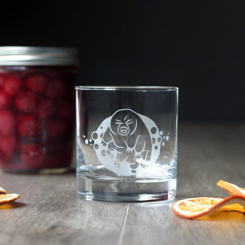 Tardigrade (Water Bear) Cocktail Glass - etched glassware