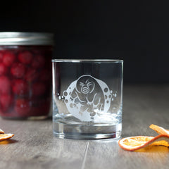 Tardigrade (Water Bear) Cocktail Glass - dishwasher-safe etched glassware
