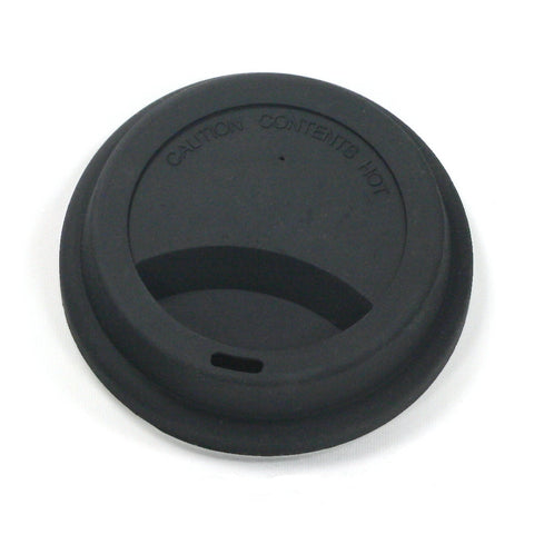 Black silicone travel lid