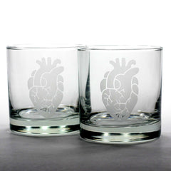 Anatomical Heart Lowball Glass (Retired)