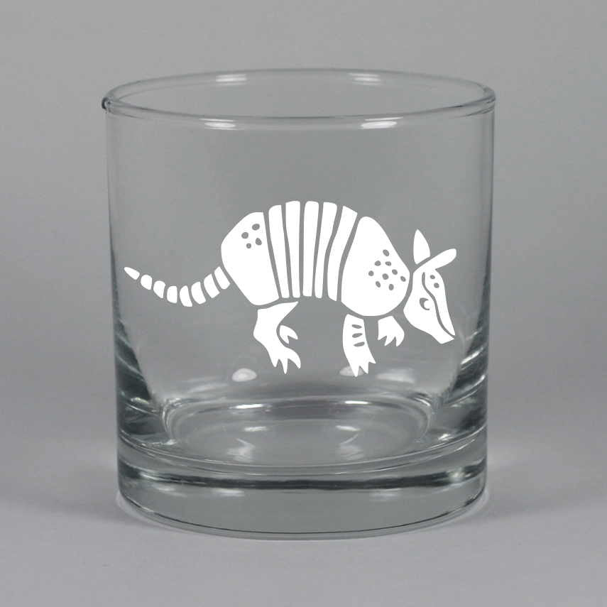 Armadillo lowball glass by Bread and Badger
