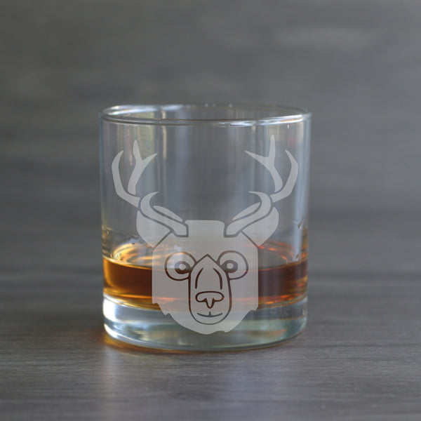 Bear with Antlers (beer) lowball glass