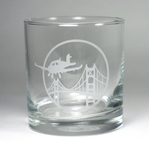 custom logo lowball glass