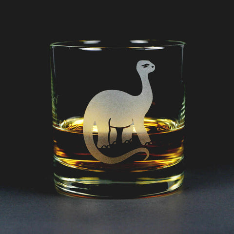 Brontosaurus Lowball Glass