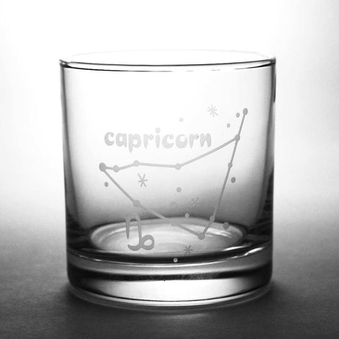 capricorn lowball glass by Bread and Badger