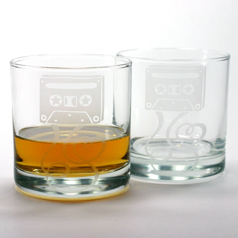 Cassette Tape Lowball Glass (Retired)