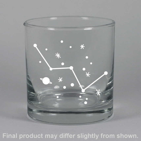 Cassiopeia constellation lowball glasses, by Bread and Badger
