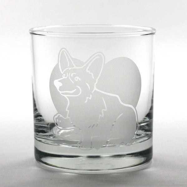 Corgi dog cocktail glass by Bread and Badger