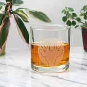 Deer Head whiskey glass by Bread and Badger