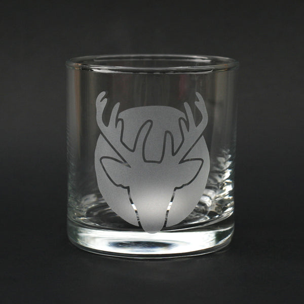 Deer Head scotch glass by Bread and Badger