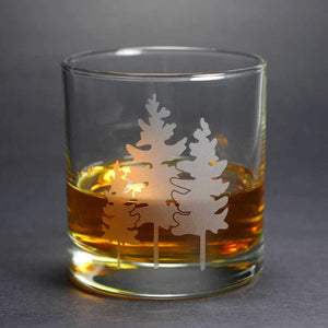 Family of Trees lowball glass