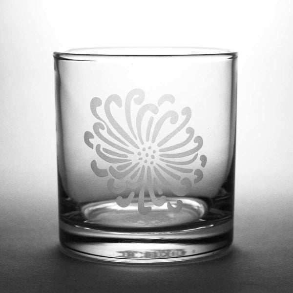 Flower lowball glass by Bread and Badger