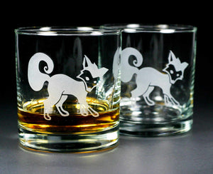 cute fox cocktail glasses by Bread and Badger