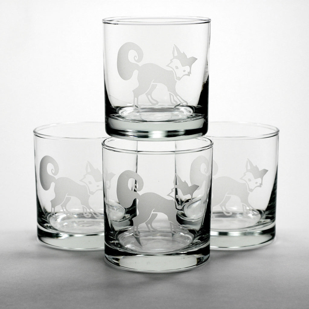 foxy fox whiskey glasses
