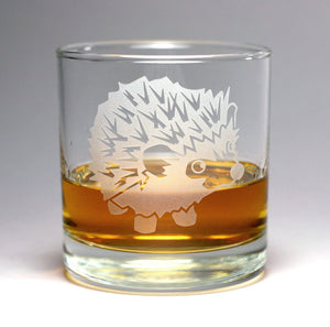 Hedgehog lowball glasses