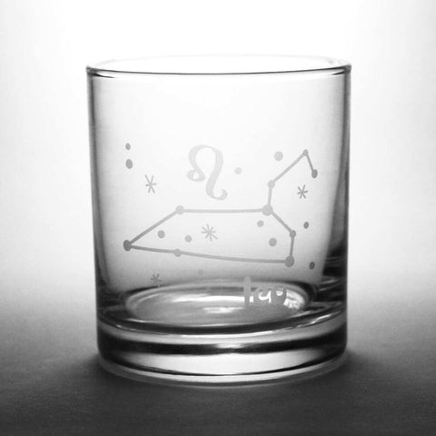 Leo Zodiac Constellation Lowball Glass