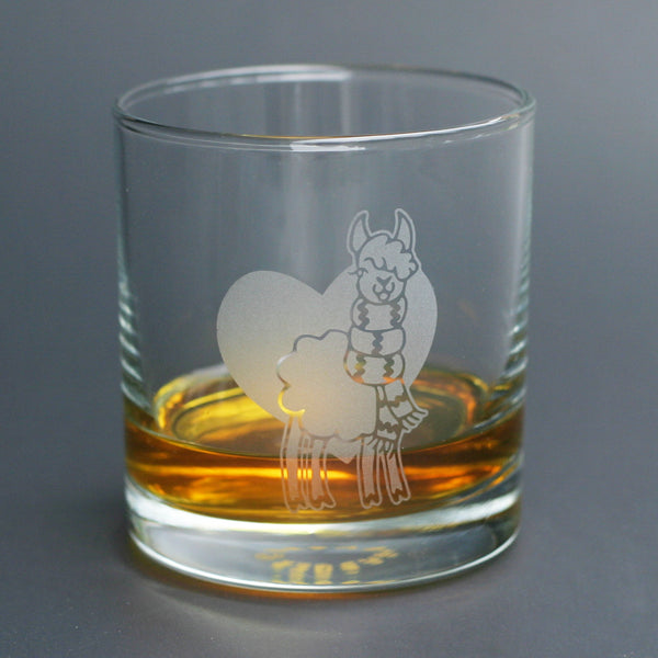 Llama lowball glass by Bread and Badger