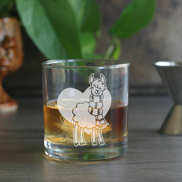 Alpaca lowball glasses for whiskey