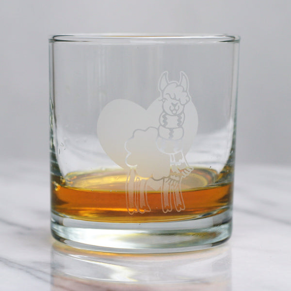 Alpaca lowball glass by Bread and Badger