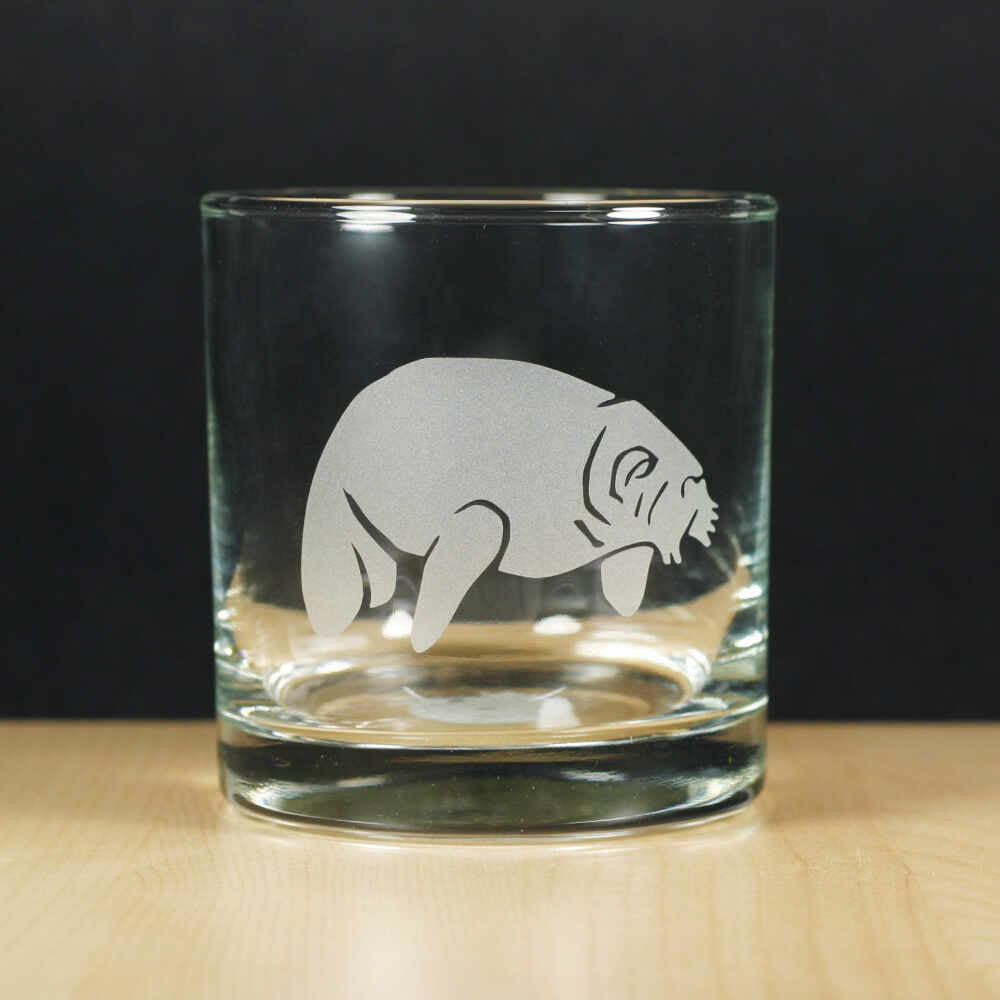Manatee lowball glass by Bread and Badger