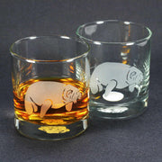 Manatee sea cow lowball glasses