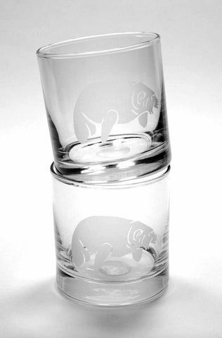 Manatee lowball glasses by Bread and Badger