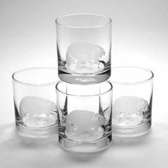 Set of 4 Manatee lowball glasses by Bread and Badger