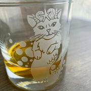 Mermaid Cat double old fashioned glass by Bread and Badger