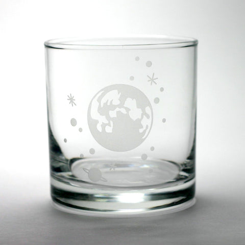 Moon and Stars Lowball Glass