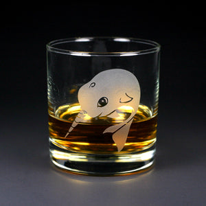 Narwhal lowball glass
