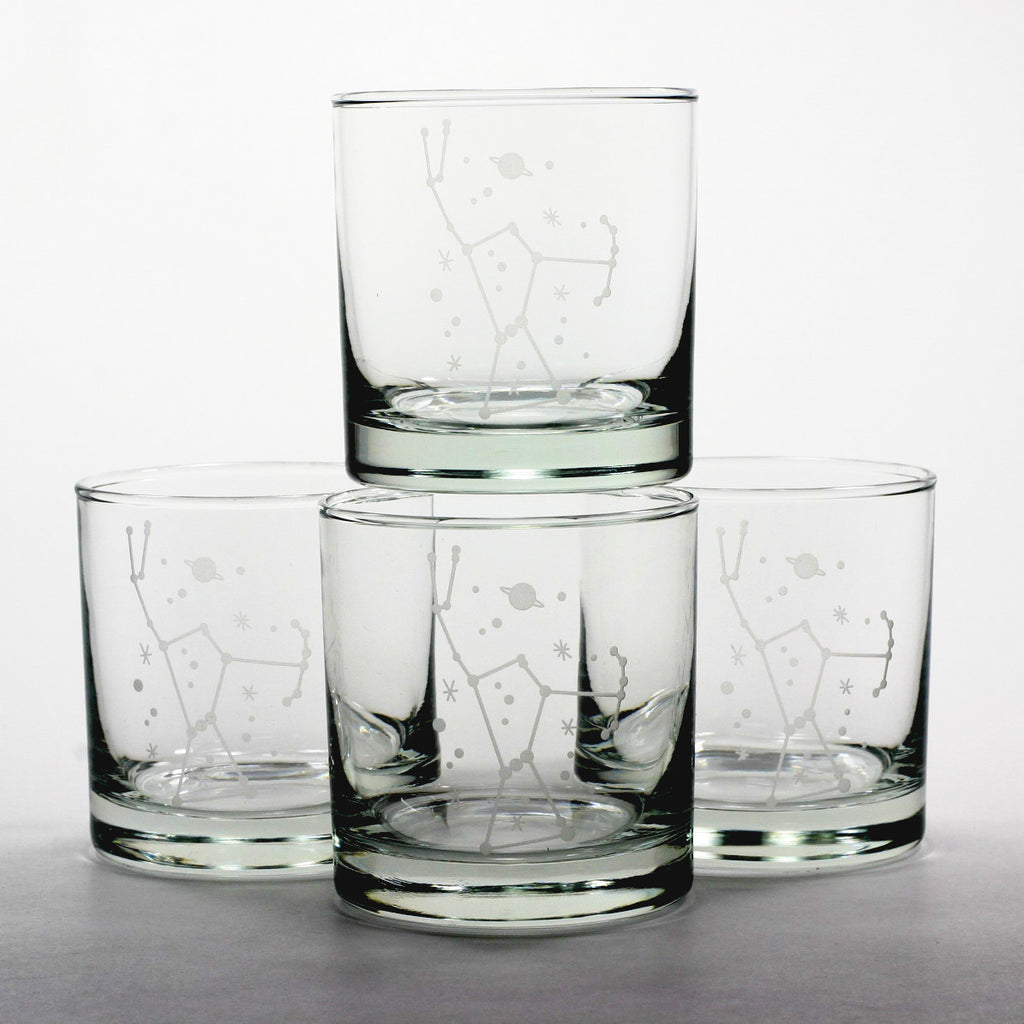 orion constallation space lowball glasses
