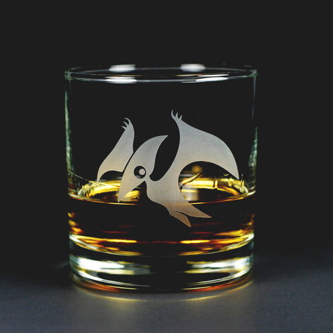 Pterodactyl Lowball Glass