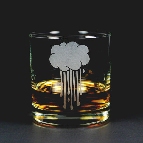 Rain Cloud Lowball Glass