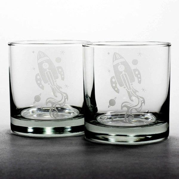 spaceship scotch whiskey glasses