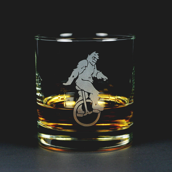 Sasquatch Bigfoot lowball glass