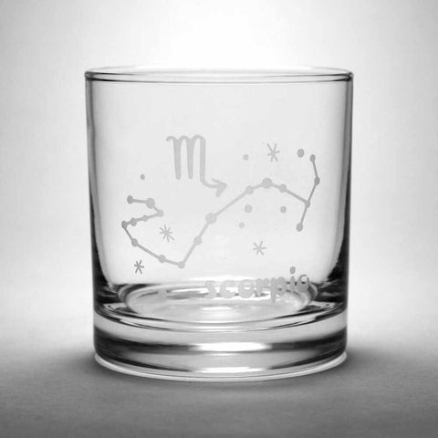 scorpio lowball glass by Bread and Badger