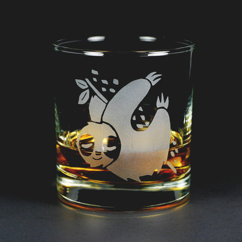 Sloth Lowball Glass